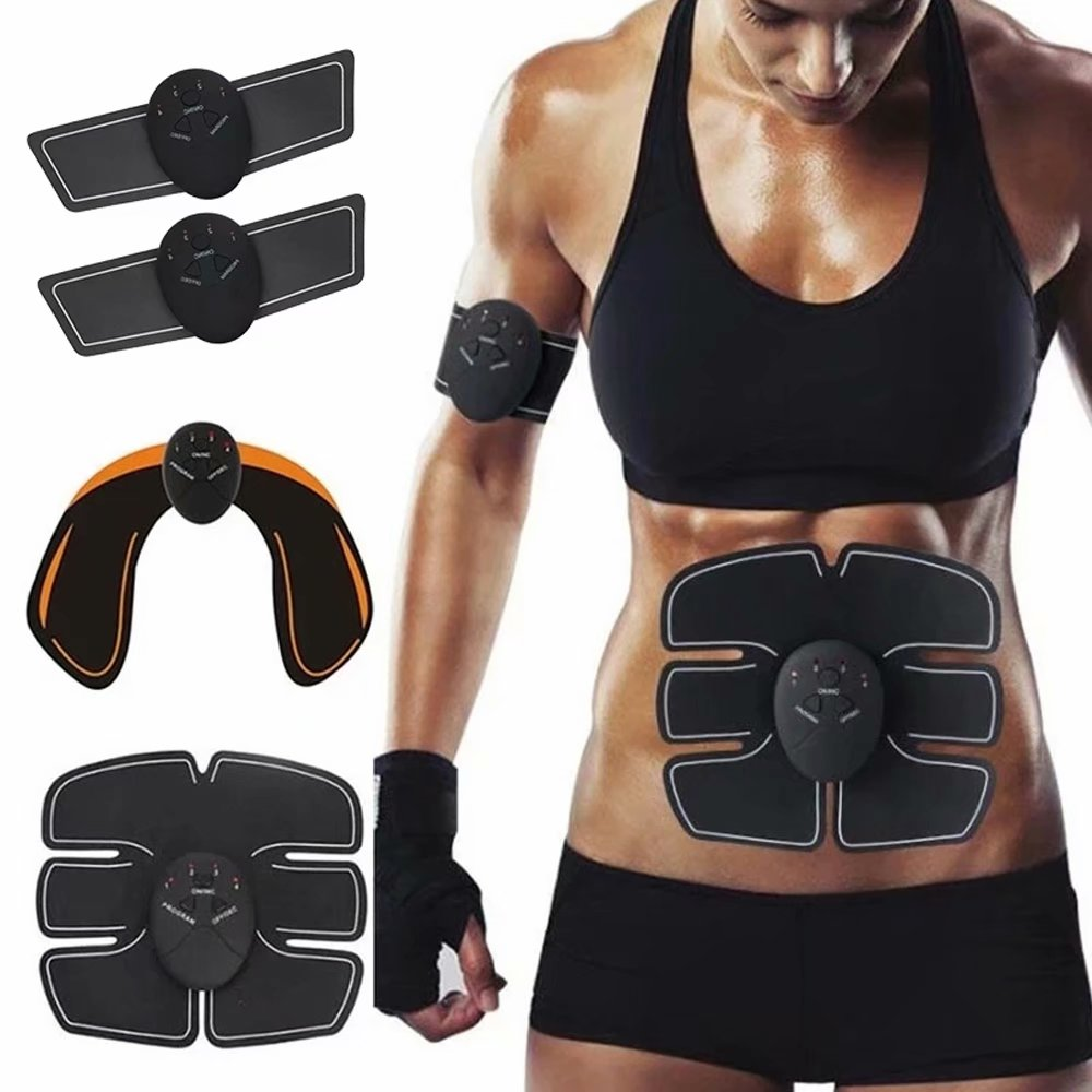 Abdominal Muscle Trainer Body Slimming Machine Fat Burning Fitness Massage relax