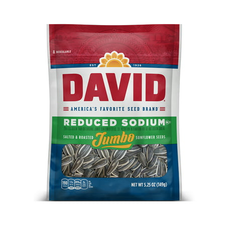 David Jumbo Reduced Sodium Sunflower Seeds, 5.25 Oz.](Roasted Pumpkin Seeds Halloween)