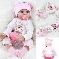 High Quality 22'' Realistic Lifelike Realike Alive Newborn Reborn Babies Silicone Vinyl Reborn Baby Girl Dolls Handmade Weighted Alive Doll for Toddler Gifts
