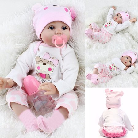 High Quality 22'' Realistic Lifelike Realike Alive Newborn Reborn Babies Silicone Vinyl Reborn Baby Girl Dolls Handmade Weighted Alive Doll for Toddler (African American Silicone Reborn Babies For Sale)