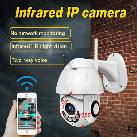Outdoor Speed Dome Ip Network - IP66 Waterproof Outdoor WiFi HD 1080P IP Camera Wireless Security Speed Dome Camera Night Vision Two-way Intercom Support ONVIF Hotspot