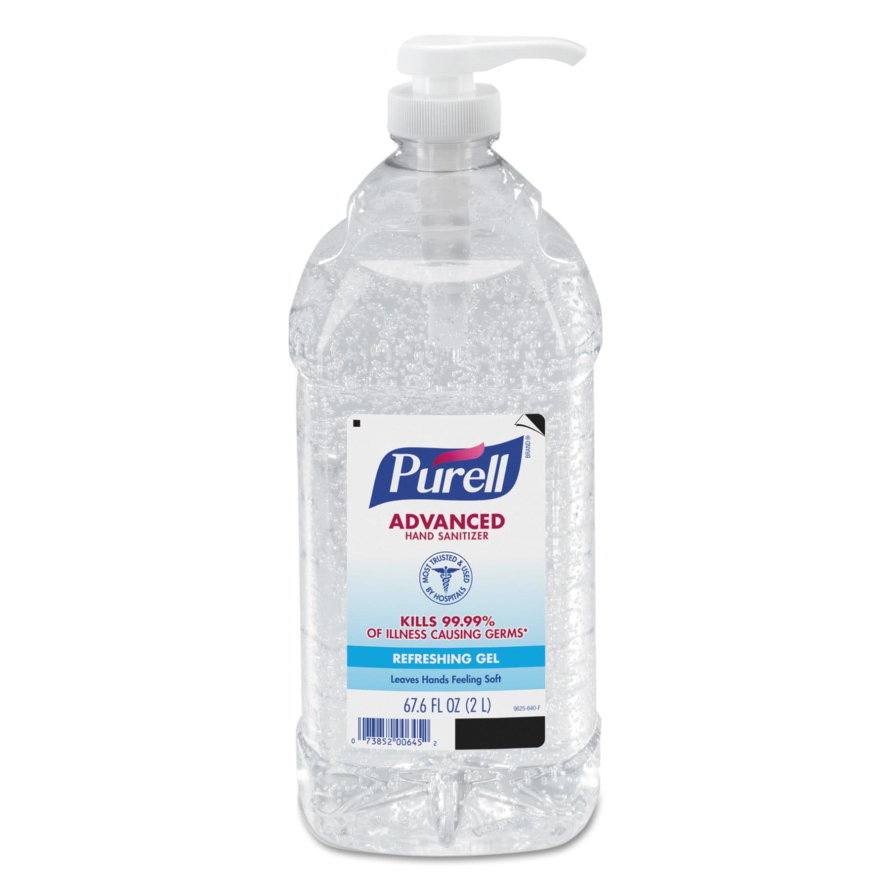 PURELL Advanced Instant Hand Sanitizer 9625-04, 2-liter Bottle