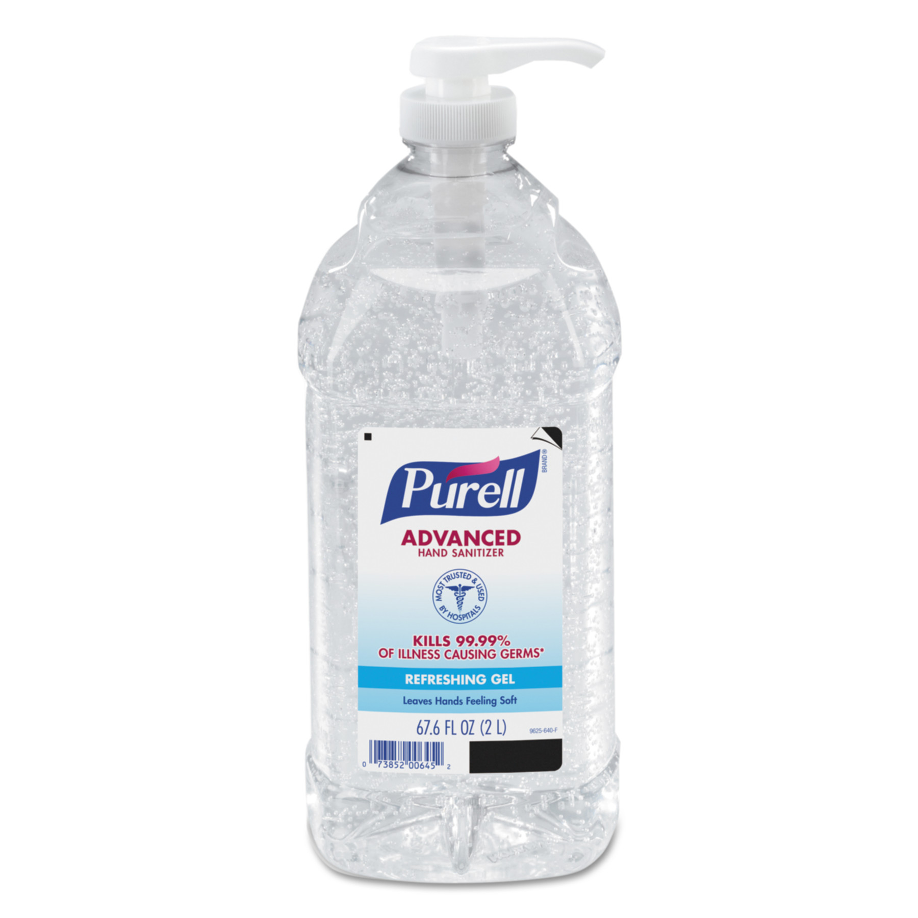 PURELL Advanced Instant Hand Sanitizer 9625-04, 2-liter Bottle