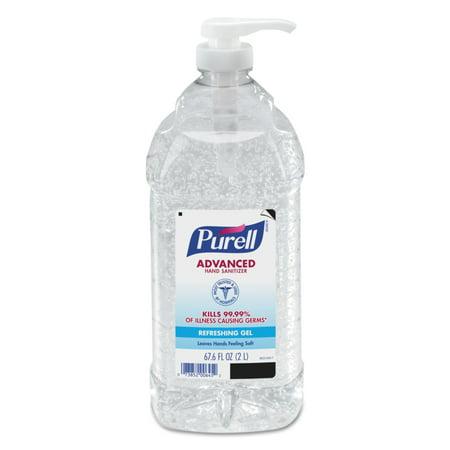 PURELL Advanced Hand Sanitizer Refreshing Gel for Workplaces, Clean scent, 2 Liter pump bottle, (9625-04)