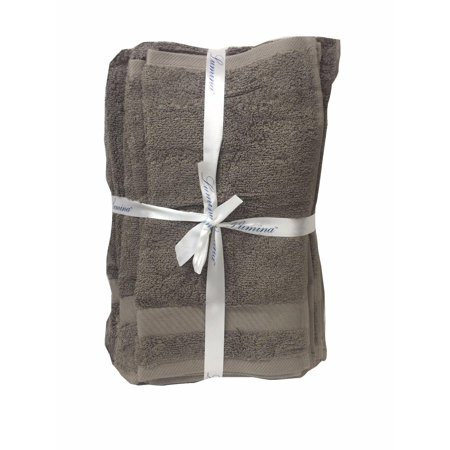 Lumina Six Piece Towel Set Reindeer Gray (2 bath, 2 hand, 2 wash) ()
