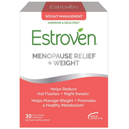 Estroven Menopause Relief with Weight Management Dietary Supplement Capsules - 30ct
