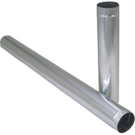 8in Round Duct (Imperial GV0393 Duct Pipe, 7 in Dia, Round Duct, Galvanized 10 Pack)