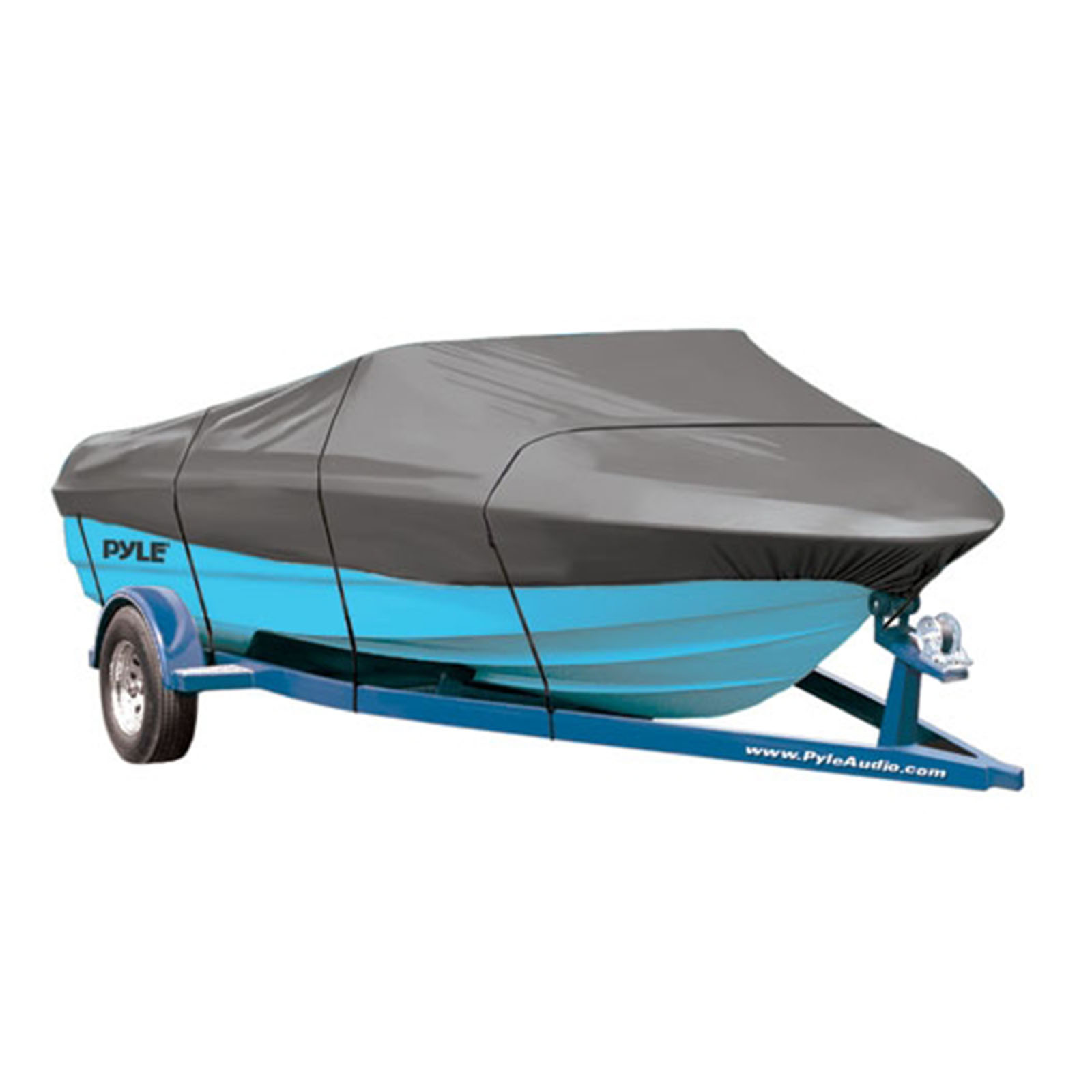 "Armor Shield Trailer Master Boat Cover 16'-18.5'L Beam Width to 98"" Fish, Ski Boats, & Pro Style Bass Boats by Pyle"