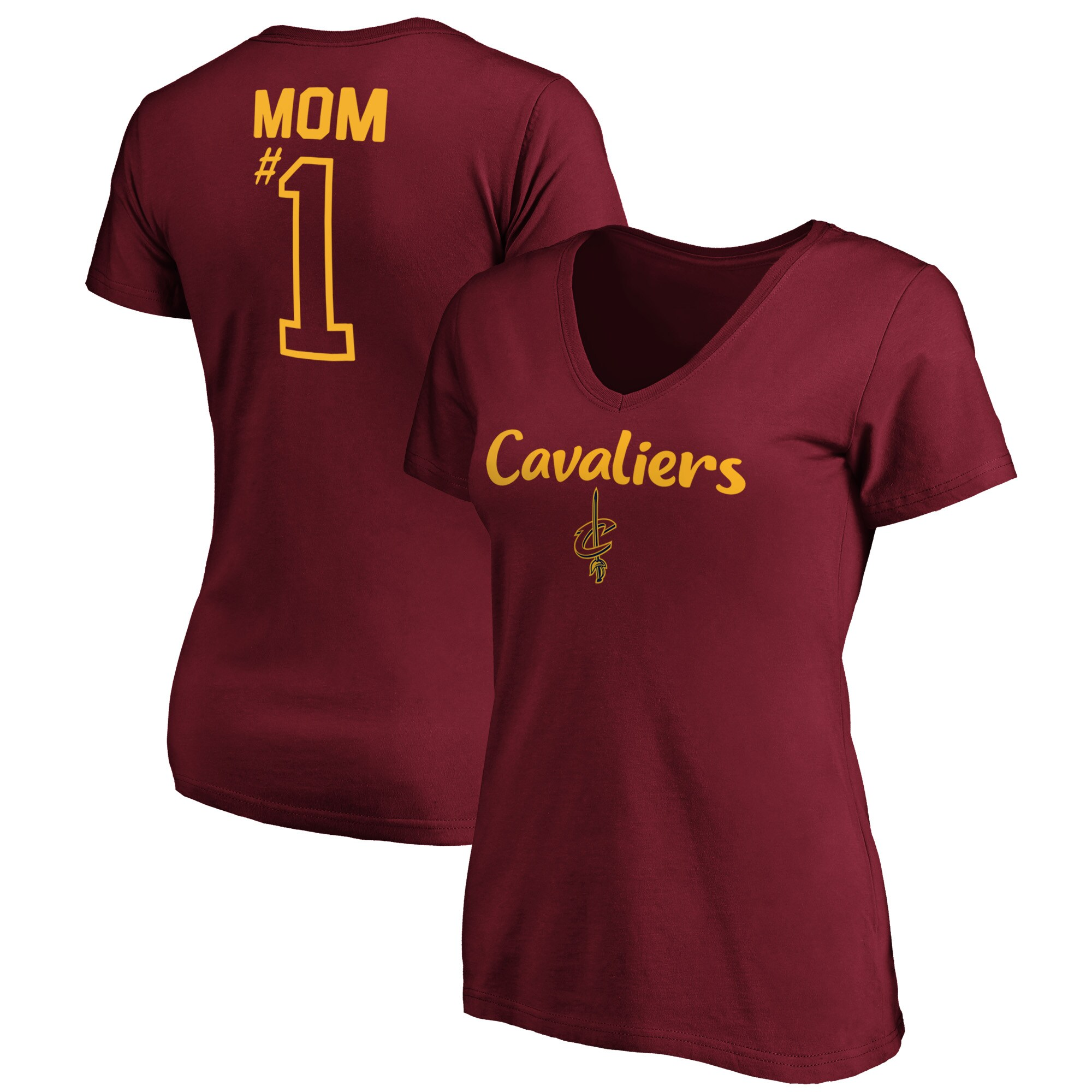 Large Red NBA Cleveland Cavaliers Womens Champions Baby Jersey V-Neck Short Sleeve Tee