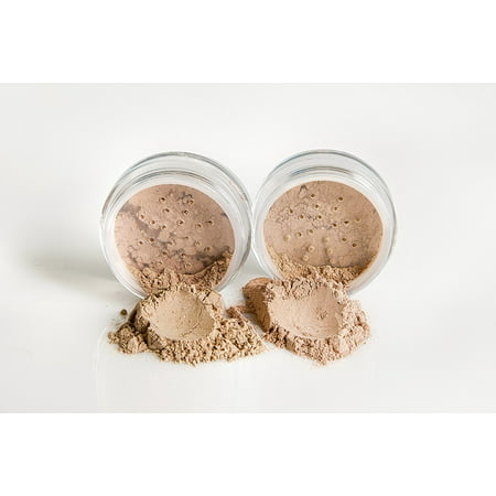 FOUNDATION & CONCEALER DUO Mineral Makeup Kit Full Size Set Matte Bare Face Sheer Powder Cover (FAIR 2 & LIGHT