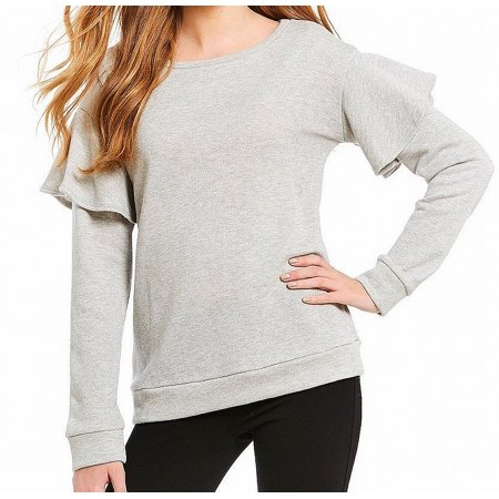 Womens Small Scoop Neck Shimmer Sweater S ()
