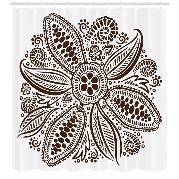Cocoa Shower Curtain Ornamental