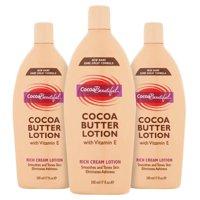(3 Pack) Cocoa Beautiful™ Cocoa Butter Rich Cream Lotion, 17 fl oz