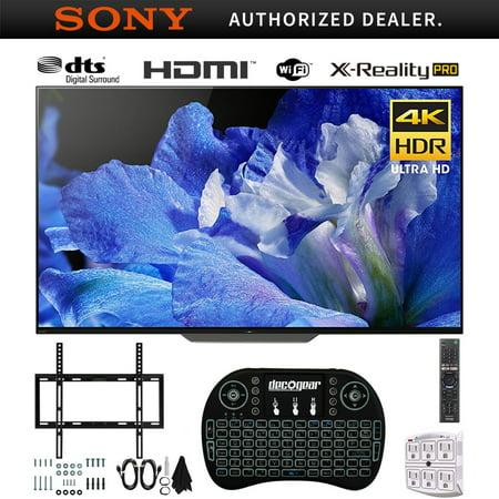 Sony XBR55A8F 55-Inch 4K Ultra HD Smart BRAVIA OLED TV (2018 Model) + Wireless Keyboard + Wall Mount Bundle