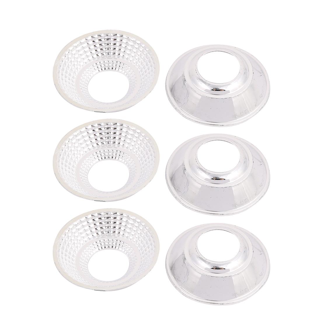 6Pcs D50mm H13mm Plastic  Light Lamp Reflector Cup for  COB Flashlight
