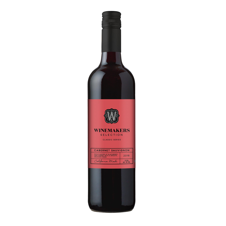 Winemakers Selection Cabernet Sauvignon Red Wine 750ml 2018 Walmart Com Walmart Com