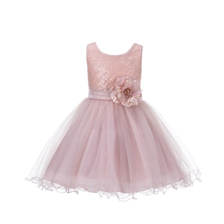 Ekidsbridal Elegant Stylish Glitter Sequin Tulle Flower Girl Dresses Princess Dresses Ballroom Gown Birthday Girl Dress Pageant Gown Special Occasion Dress Evening Gown Wedding Tulle Dresses - Elegant Flower Girl Dresses