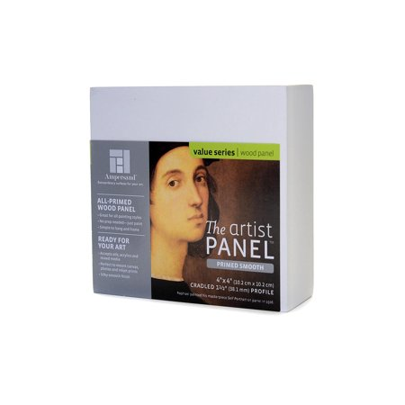 The Artist Panel Primed Smooth Cradled Profile 1 1/2 in., 4 in. x 4 in. (pack of 2) ()