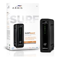 ARRIS SURFboard (16x4) DOCSIS 3.0 Cable Modem / AC1600 Dual-Band WiFi Router. Approved for XFINITY Comcast, Cox, Charter and most other Cable Internet providers for plans up to 300 Mbps.