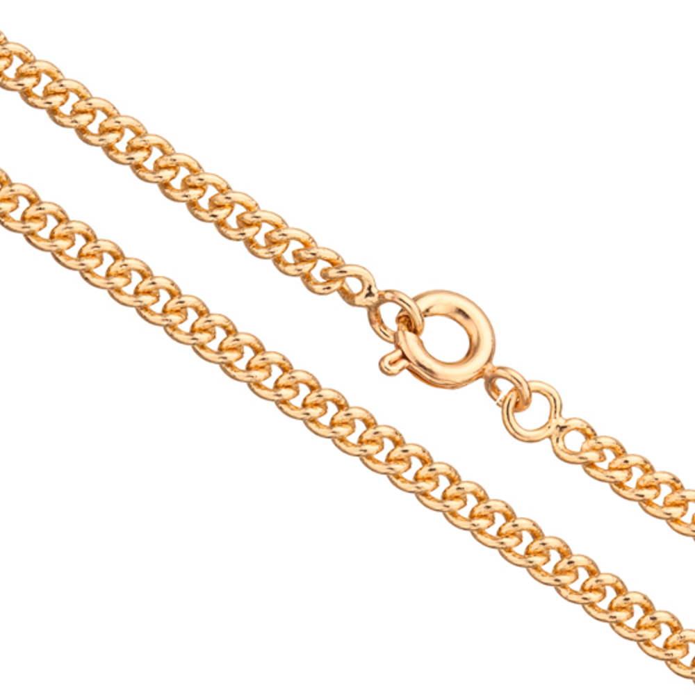 16Inch Necklace Gold Curb Chain With Springring Clasp