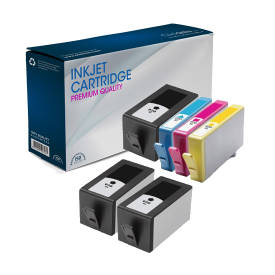 6 Pack HP Remanufactured 920XL BK/C/M/Y High Capacity Inkjet Cartridges for HP Officejet 6500 All-in-One Printer-E709e Printer