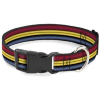 Cat Collar Breakaway Captain Marvel Stripe Red Gold Blue 8 to 12 Inches 0.5 Inch Wide
