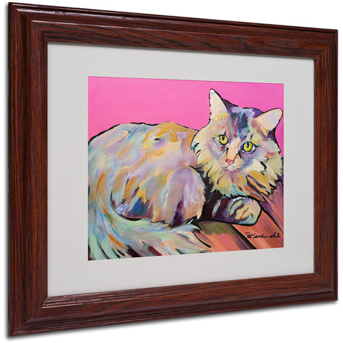 "Trademark Fine Art ""Catatonic"" Matted Framed Art by Pat Saunders"