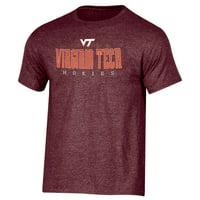 Men's Russell Athletic Maroon Virginia Tech Hokies Crew Basic Logo T-Shirt