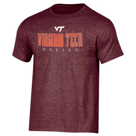 - Men's Russell Maroon Virginia Tech Hokies Basic Logo Crew Neck T-Shirt