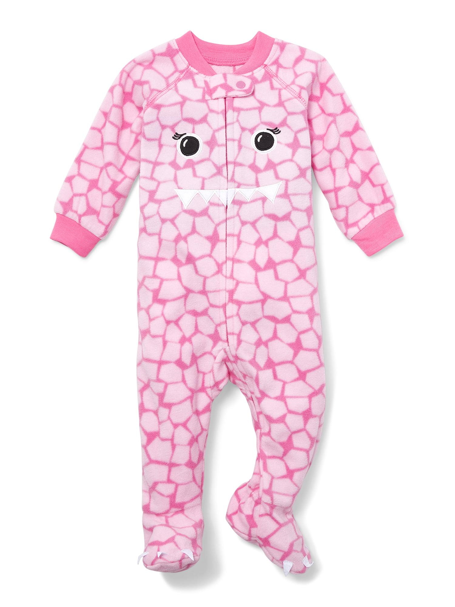 Critter Face Blanket Sleeper (Baby Girls & Toddler Girls)
