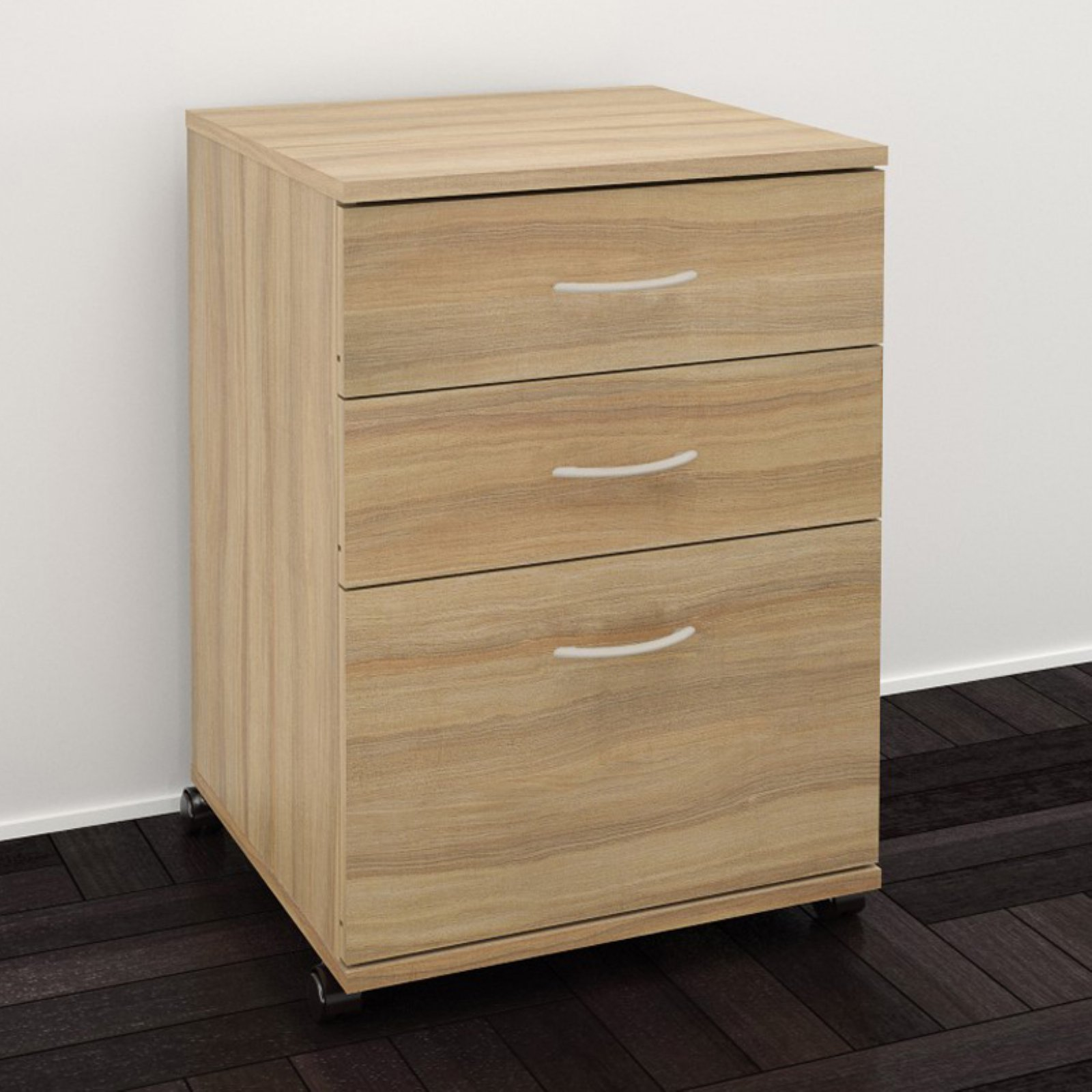Nexera 3 Drawer Vertical Wood Filing Cabinet, Multple finishes