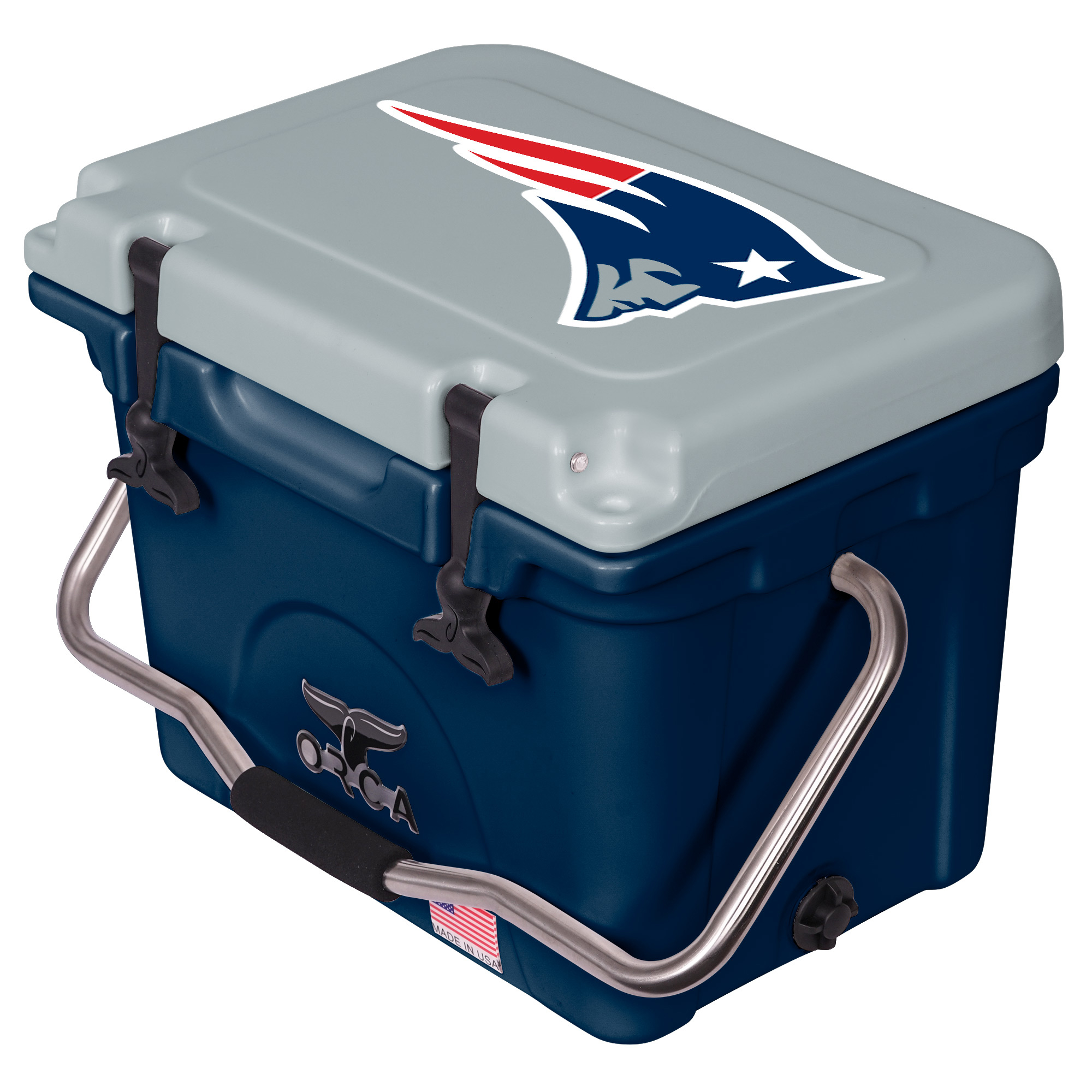 New England Patriots ORCA 20-Quart Hard-Sided Cooler - Navy/Gray - No Size