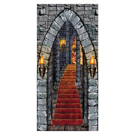 Castle Entrance Door Cover Halloween Decoration for $<!---->