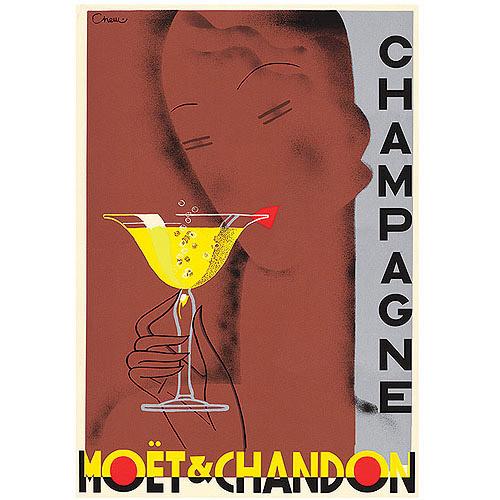 "Trademark Fine Art ""Champagne Moet & Chandon"" Canvas Art by Chem"