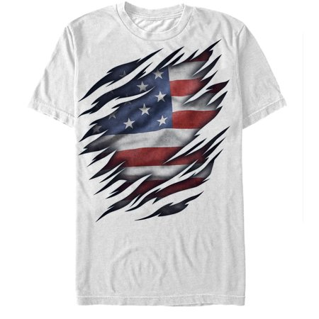 5ea13ab72 Lost Gods - Men's Fourth of July American Flag Torn T-Shirt - Walmart.com