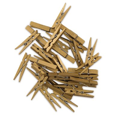 Wooden Clothespins - Gold, Pkg of 30](Gold Clothespins)