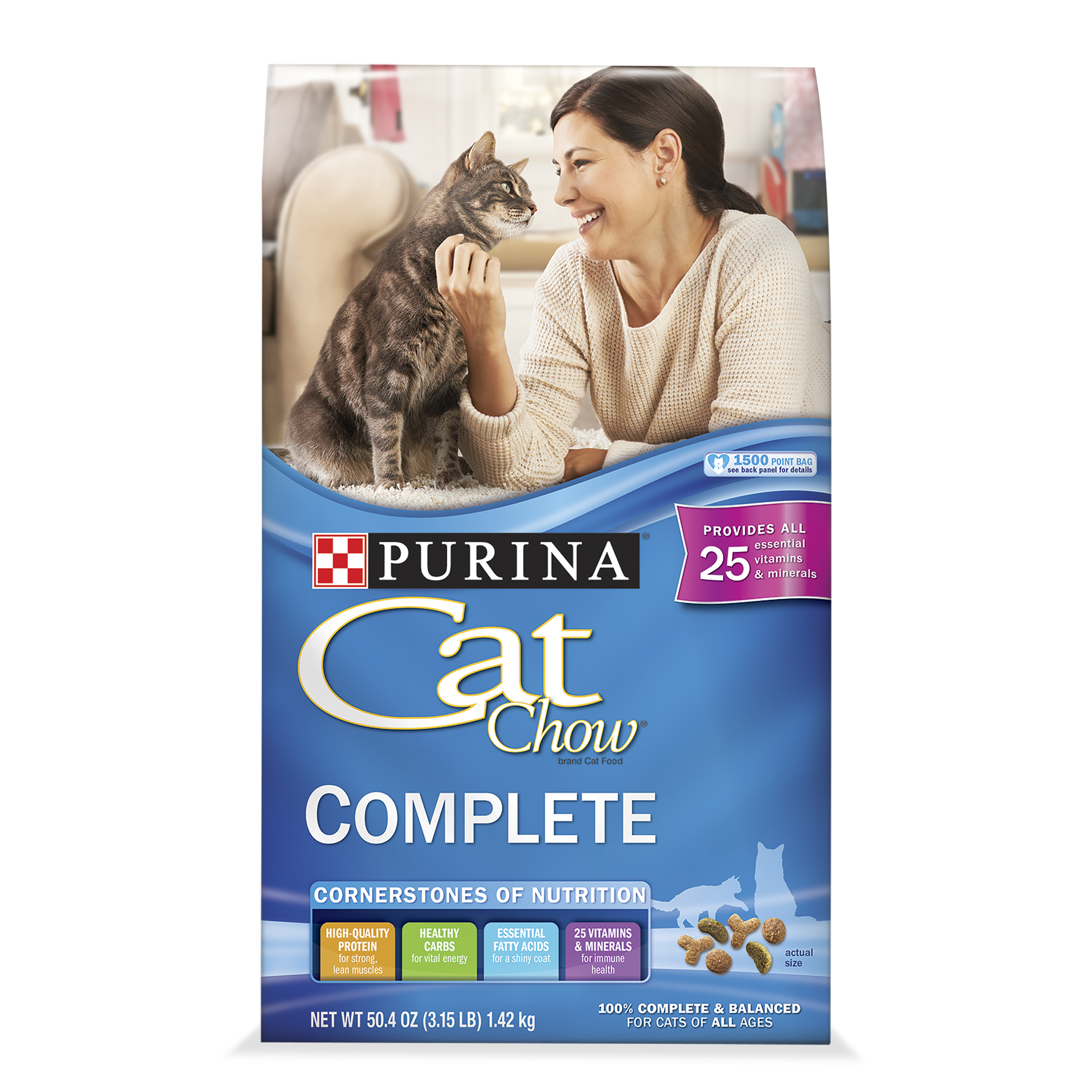 Cat Chow Complete Dry Cat Food, 3.15 lb
