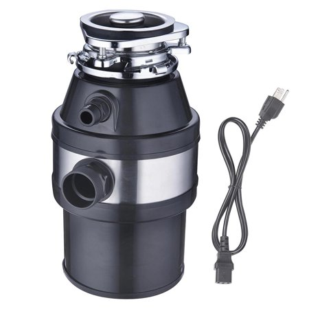 Yescom 1HP 2600 RPM Kitchen Garbage Disposal Continuous Feed Household for Waste Disposer Operation With Plug Black