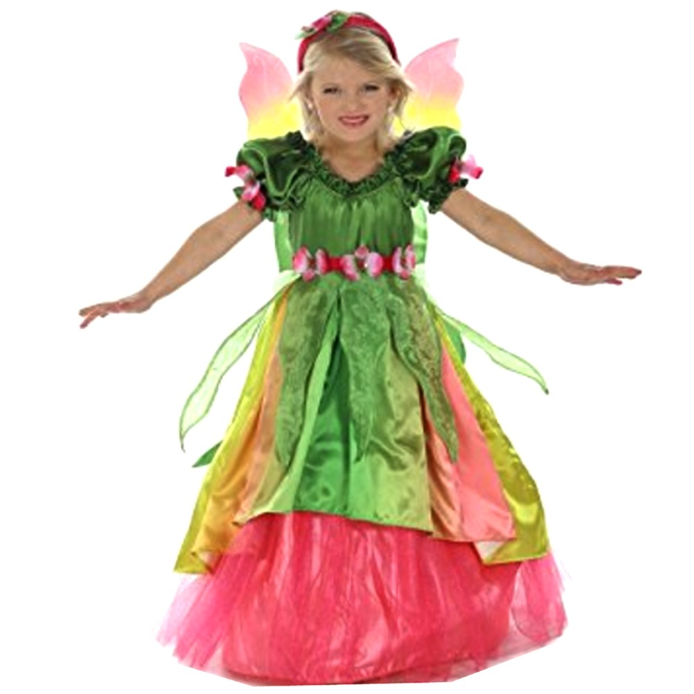 Girls Green Eden The Garden Princess Headband Dress Halloween Costume by Princess Paradise