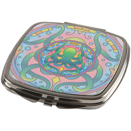 Stained Glass Mandalas (Mandala Trippy Stained Glass Octopus Compact )