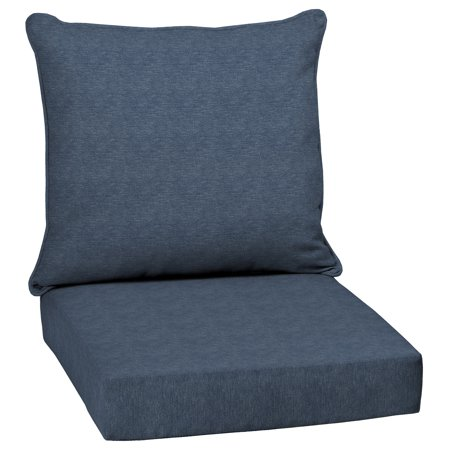 Arden Selections Denim Alair Olefin 46.5 x 24 in. Outdoor Deep Seat Cushion Set ()