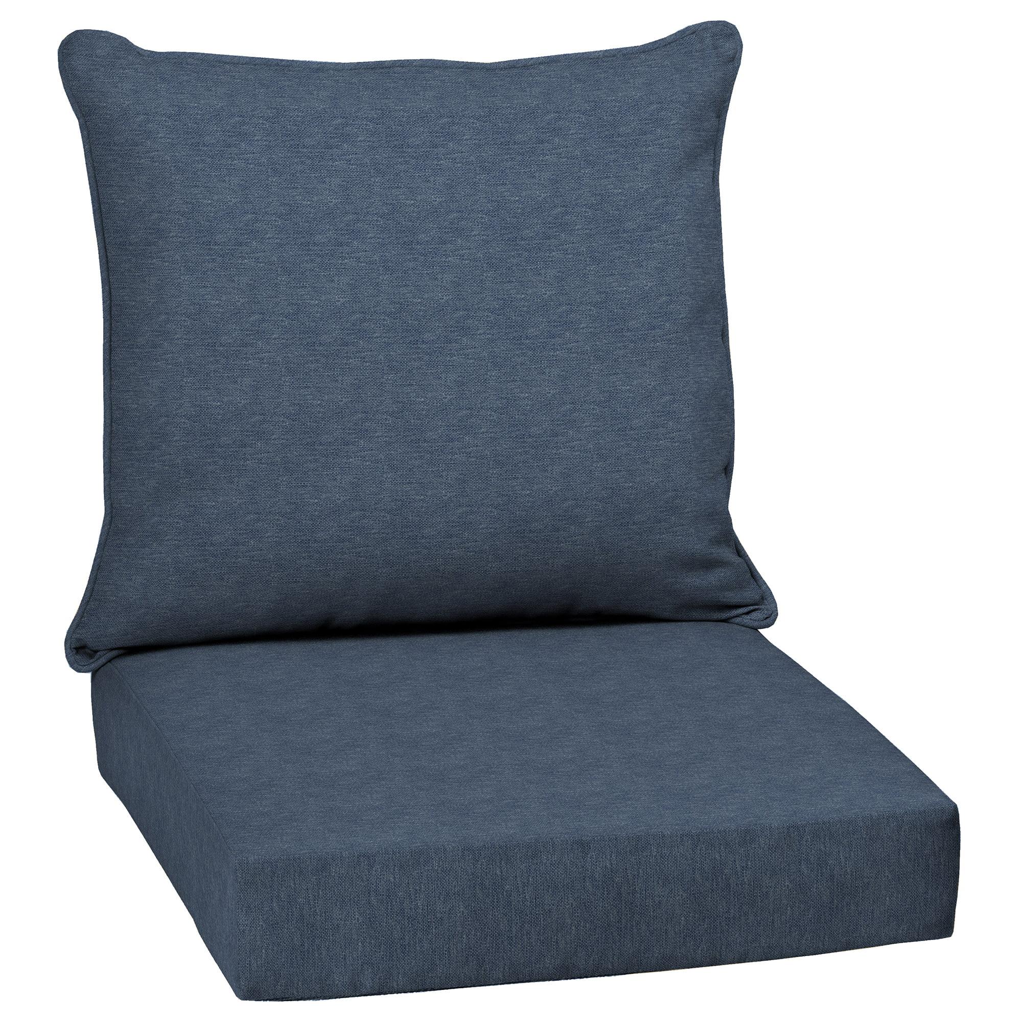 Arden Selections Denim Alair Olefin 46.5 x 24 in. Outdoor Deep Seat Cushion Set