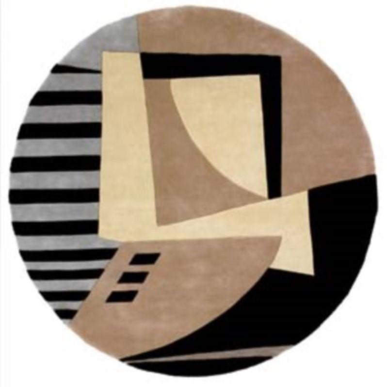 "Momeni New Wave 5'9"" X 5'9"" Round Rug in Black - image 4 de 4"