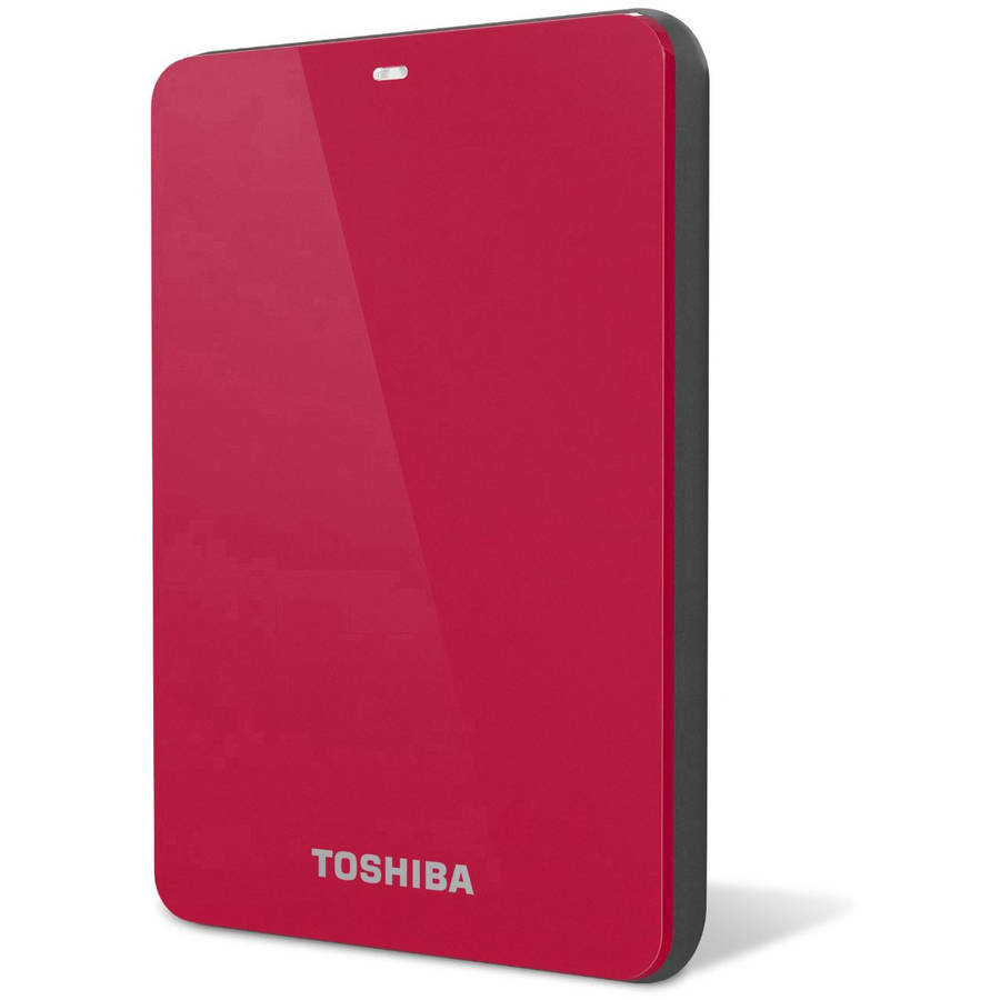 Toshiba 1tb usb 3.0 portable external hard drive with backup software, Red