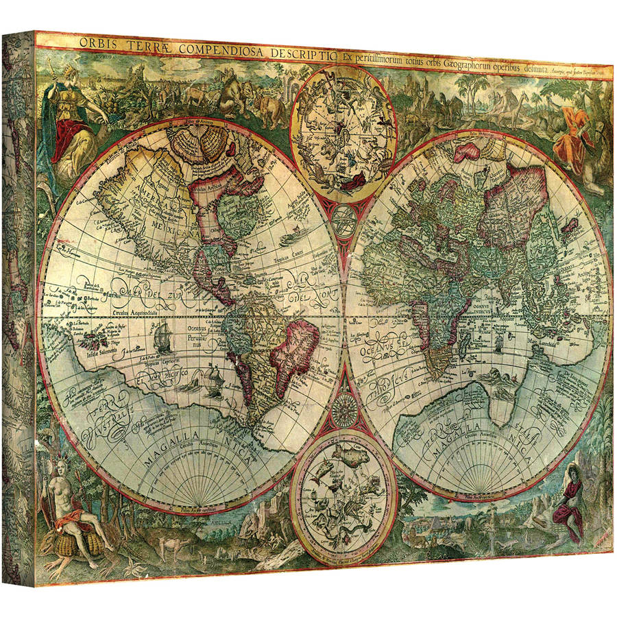 """Unknown """"Treasure Map"""" Gallery-Wrapped Canvas"""