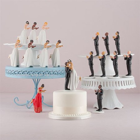 True Romance Asian Groom Cake Topper (Romance Cake Topper)