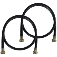Certified Appliance Accessories WM72BR2PK 2 Pk Black EPDM Washing Machine Hoses, 6ft