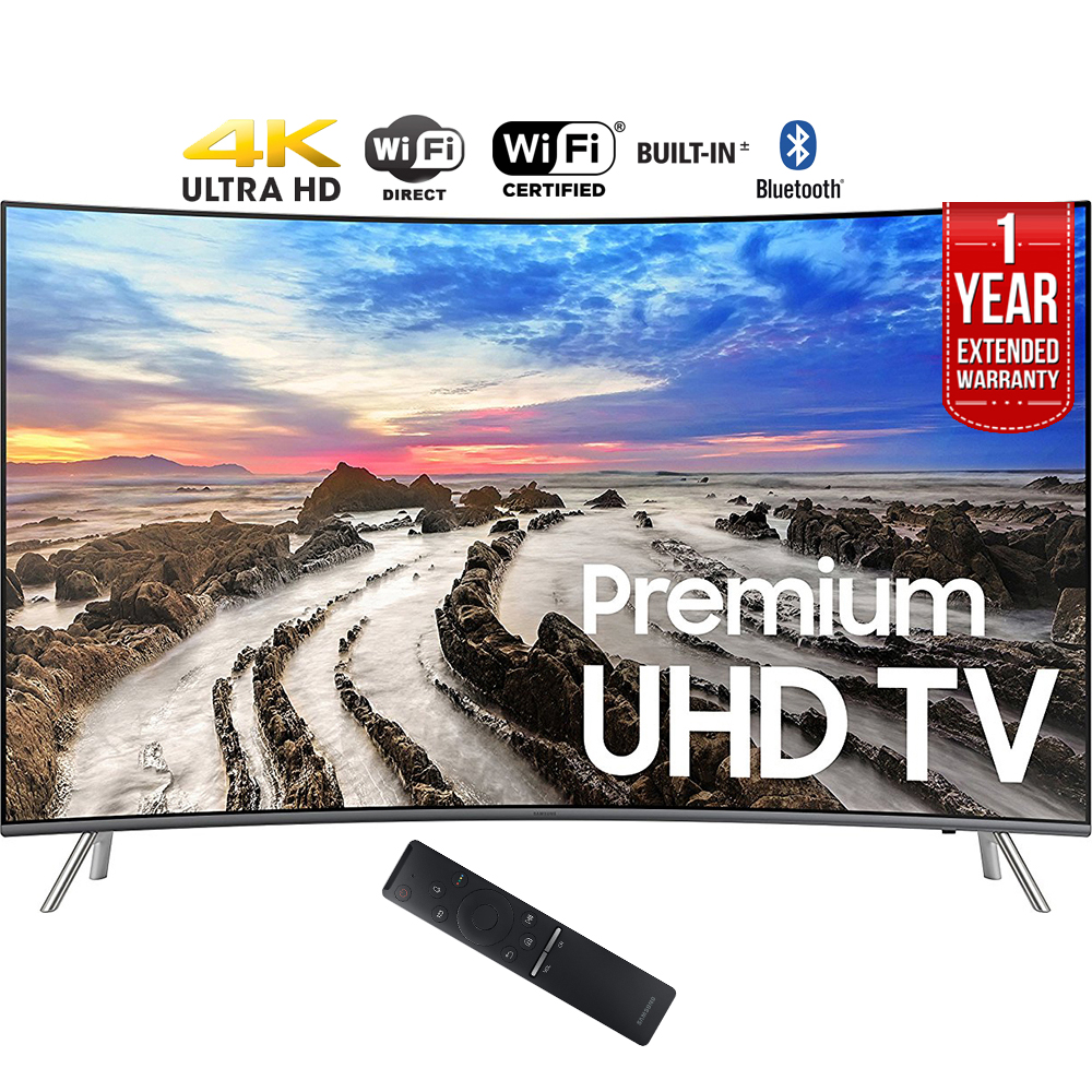 "Samsung UN55MU8500FXZA 54.6"" Curved 4K Ultra HD Smart LED TV (2017 Model) + 1"