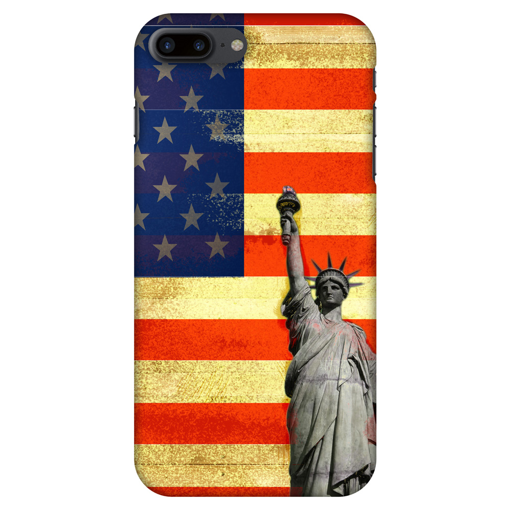iPhone 7 Plus Designer Case, Premium Handcrafted Printed Designer Hard ShockProof Case Back Cover for iPhone 7 Plus - Rustic Liberty US Flag, 5.5 Inch iPhone 7, HD Color, Soft Finish