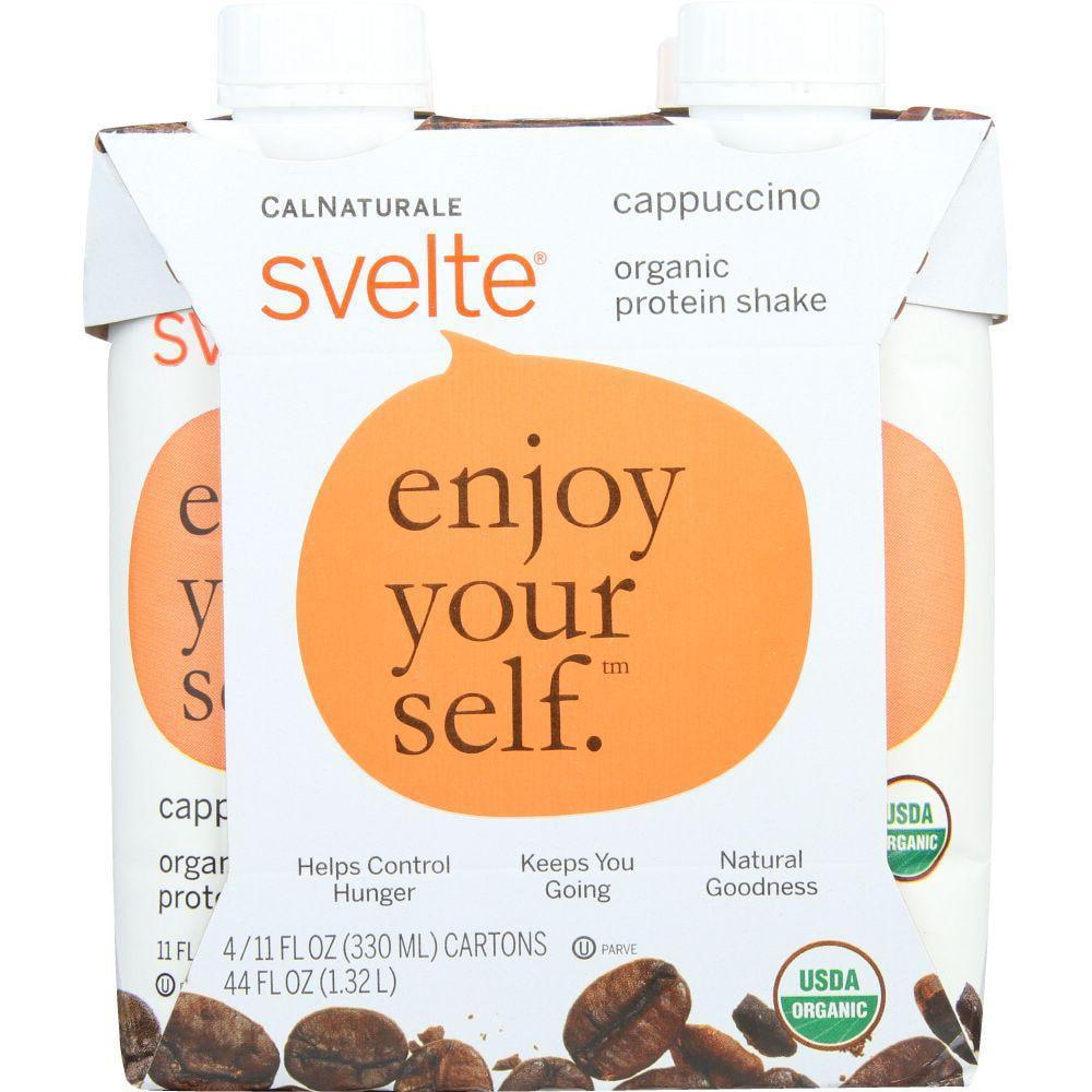 Svelte Protein Shake, Organic, Cappuccino, 4/11 Fl Oz Cartons